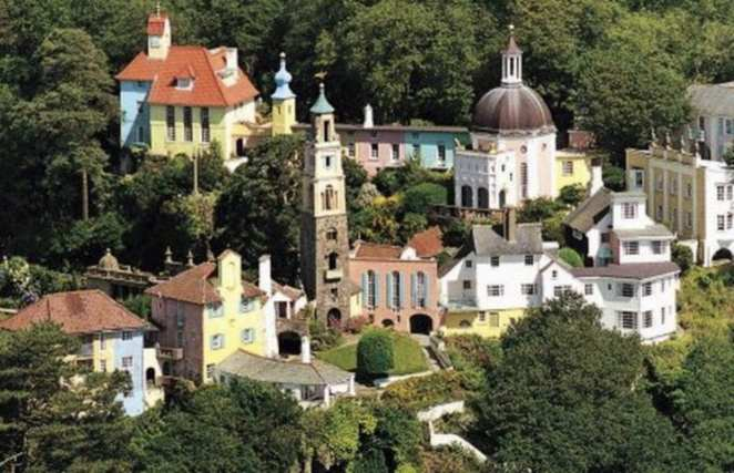 A lovely view of Portmeirion, Whales, location of The Prisoner's Village