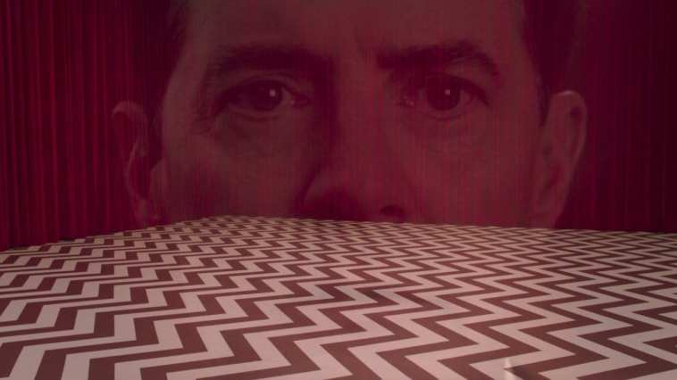 dale coopers face superimposed over the red room