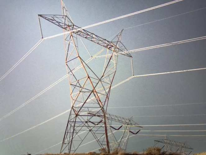 an electricity pylon