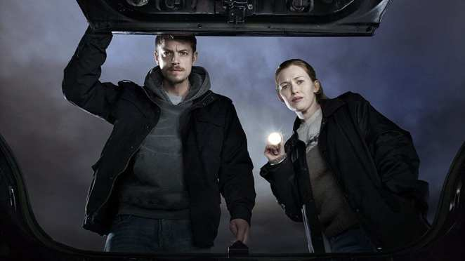 Mireille Enos and Joel Kinnaman star in The Killing