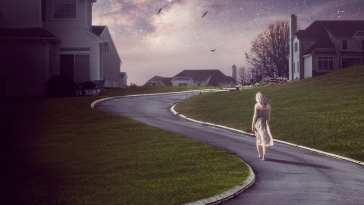 The OA walks a path to her home in the OA