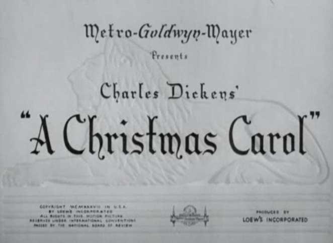 A Christmas Carol 1938 title card