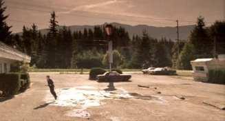 The Red Diamond Motel car park