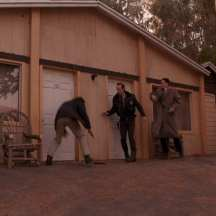 Harry, Andy and Cooper staking out the one armed man at Timber Falls Motel Twin Peaks