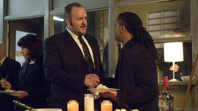 Stan Larsen and Bennet Ahmed meet and shake hands in The Killing