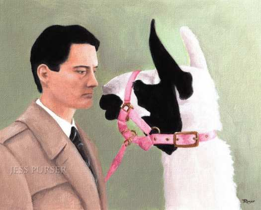 Coop and the llama - Copyright Jess Purser