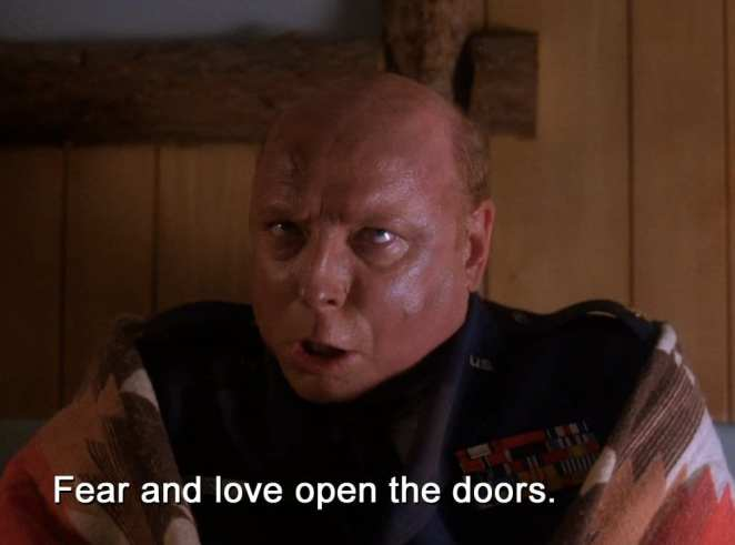 Major Briggs says that fear and love open the doors to the lodges