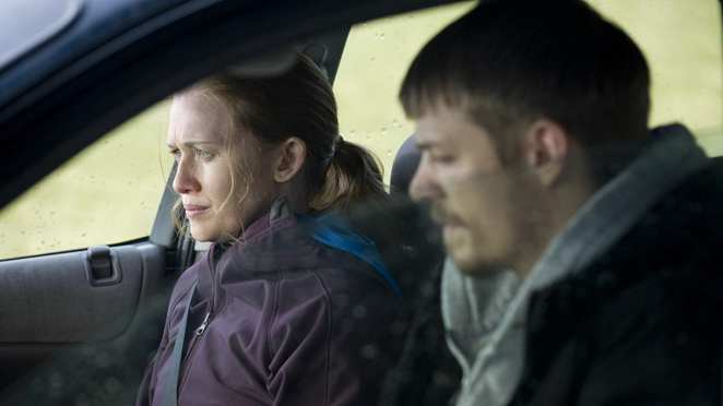 Linden and Holder open up to each other while sitting in a car in The Killing