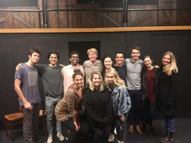 Ivan Bukta and a group photo with Sheryl Lee at the Actor Director Workshop