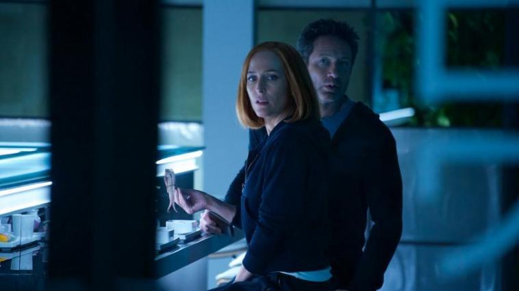 Mulder and Scully look surprised