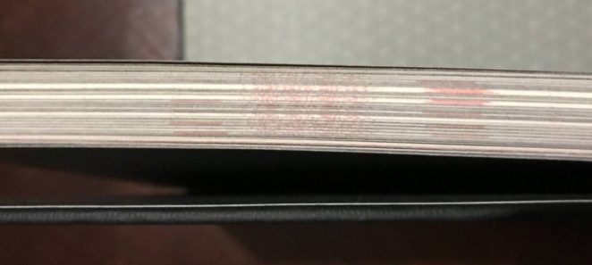 If looking at the closed pages it appears to be bars of red.