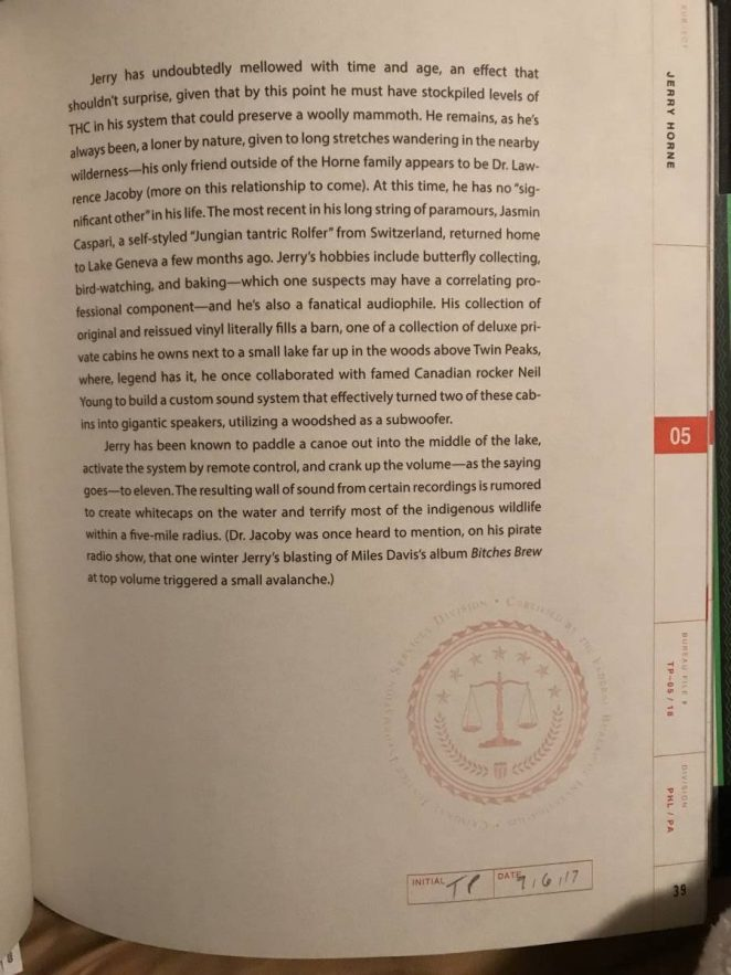 An chapter-ending page always has an FBI official seal stamp in red near the agent's signature and date.