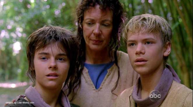 Mother tells the mysteries of the island to the boys in Lost