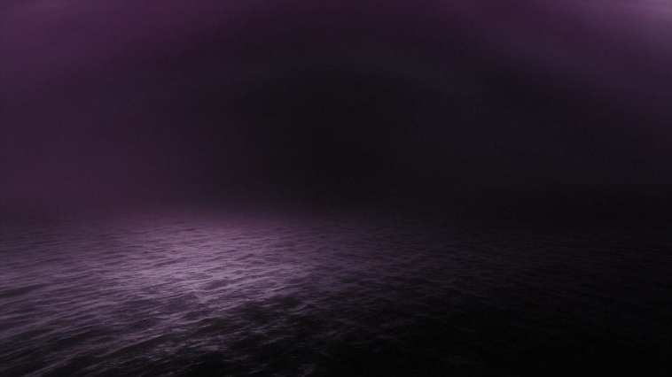 The purple sea in the mauve world