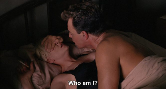 Leland covers Teresa's face and asks 'who am I?' as they lie in bed