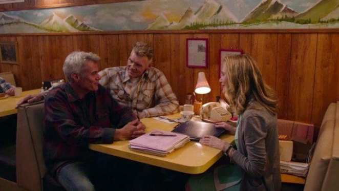 Bobby with Big Ed and Norma in the Diner