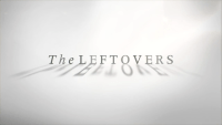 "The words ""The Leftovers"" appear on a white background, with the shadows of the letters in the foreground, on a title card for the series"