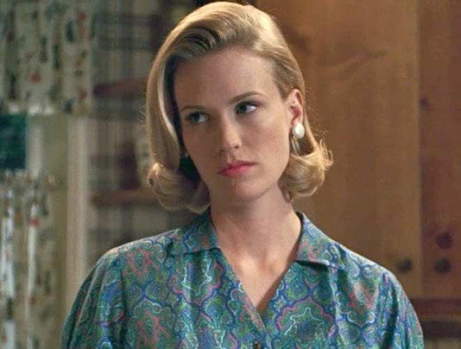 Betty Draper looking very fed up