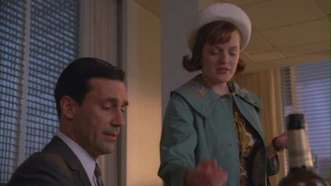 Don and Peggy in the office