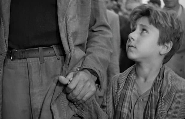 Antonio and Bruno in Bicycle Thieves
