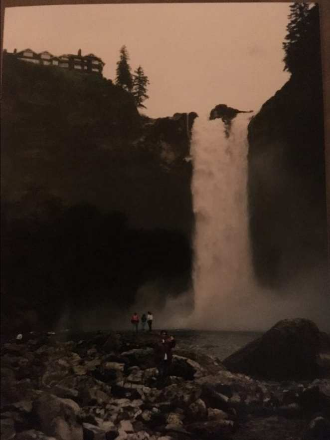 At the base of Snoqualmie Falls (1993)