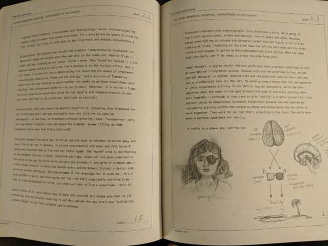 Notes on Nadine Hurley by Dr Jacoby in the Secret History of Twin Peaks by Mark Frost