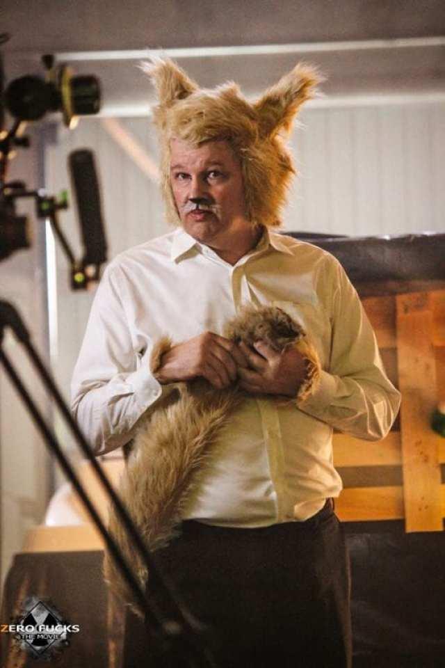 John Pirruccello as trump cat in zero fucks