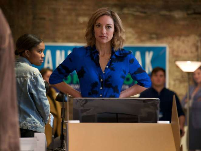 Anita Novak (Lola Glaudini) is running for mayor of New York in Ray Donovan Season 6