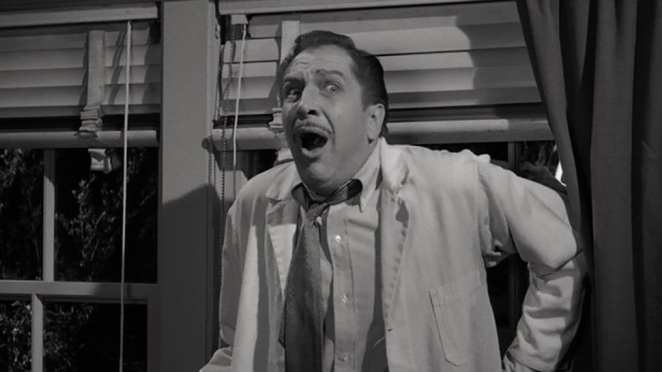 First LSD trip filmed on screen, Vincent Price as Dr. Warren Chapin, The Tingler, 1959