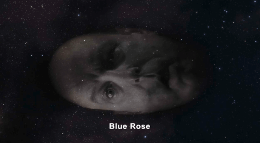 Major Briggs head says 'Blue Rose' as it travels through space, Twin Peaks Series 3