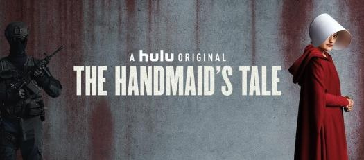 Title cover for The Handmaid's Tale, starring Elizabeth Moss as Offred