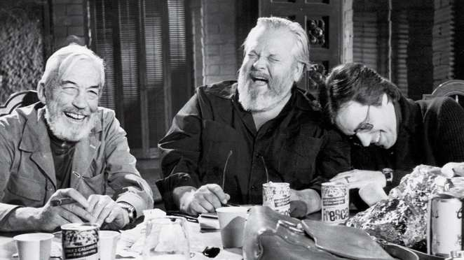 John Huston, Orson Welles, and Peter Bogdanovich