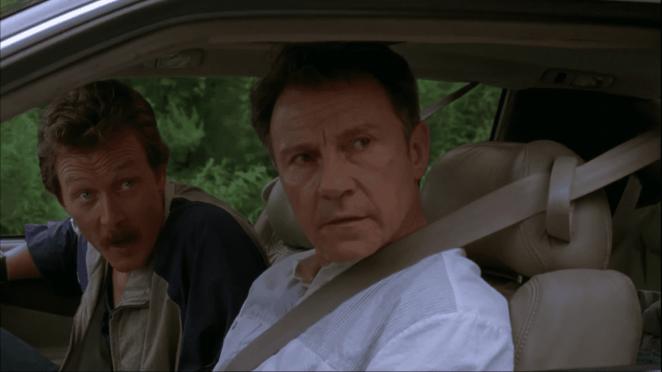 Robert Patrick and Harvey Keitel in Cop Land