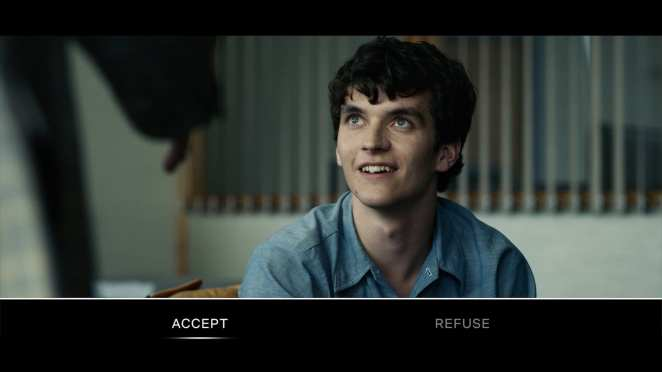 The viewer is forced to either accept or refuse an offer on Stefan's behalf in Netflix's Black Mirror: Bandersnatch