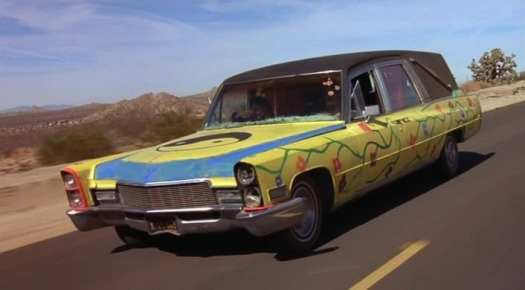 The psychedelic hearse from Grand Theft Parsons