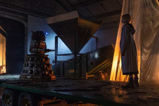 """The Doctor confronts a Dalek in Doctor Who's """"Resolution"""""""