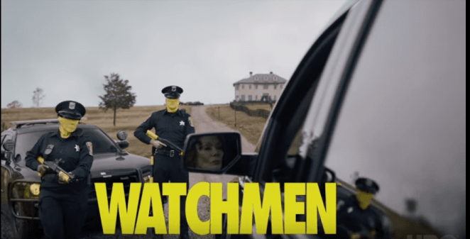 Who's in the car in HBO's Watchmen? We're not sure yet, but it rains on the just and unjust alike.