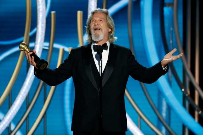 Jeff Bridges accepting the Cecil B. DeMille Award at 2019 Golden Globes