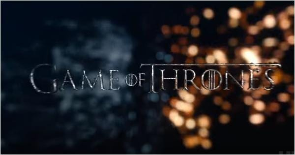 Game of Thrones title scrren