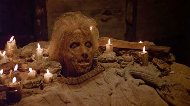 Jason Voorhees' shrine to his decomposing mother, Pamela, in Friday the 13th Part II