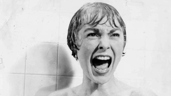 Janet Leigh in the famous shower scene from Psycho