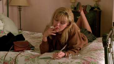 Laura Palmer (Sheryl Lee), writing her secret diary, in Twin Peaks, Fire Walk With Me