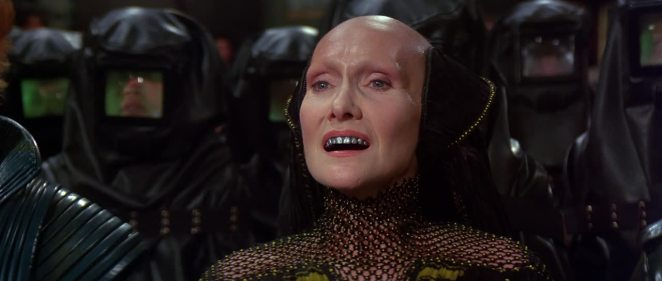 Sian Phillips in the role of Reverend Mother Helen Gaius Mohiam in David Lynch's Dune