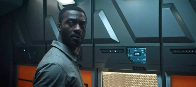 Craft (Aldis Hodge) is adrift in space in Star Trek Discovery's short Calypso