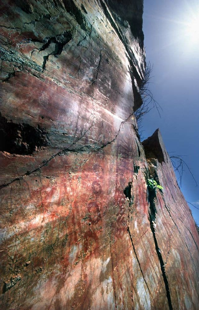 paintings on a cliff face