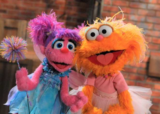 Abbie and Zoe from Sesame Street