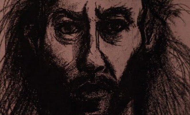 a charcoal drawing of Bob