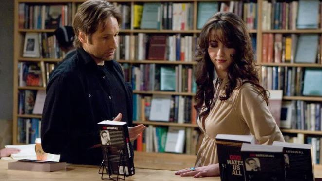 David Duchovny and Madeline Zima in Californication on Showtime