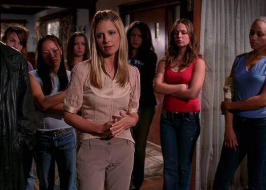 Buffy gives advice to the potential next Slayers, in the finale episode 'Chosen'