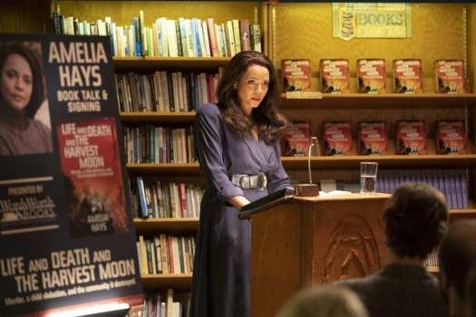 Amelia Hays at her book launch in True Detective Season 3 Ep 6